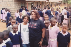 Sorors Holoman and Peters with students